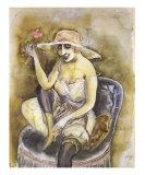 Jeune Fille a la Rose, c.1923 Poster von Otto Dix