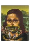 Mona Lisa Throws Up Macaroni, c.1992 Prints by Peter Saul
