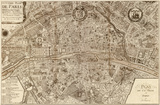 Plan de la Ville de Paris, 1715 Plakaty autor Nicolas De Fer