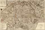 Nicolas De Fer - Plan de la Ville de Paris, 1715 - Poster