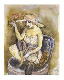 Jeune Fille a la Rose, c.1923 Kunstdrucke von Otto Dix