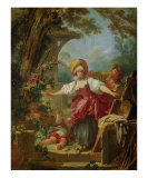 Le Collin-Maillard Print by Jean-Honor&#233; Fragonard