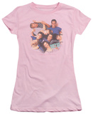 Juniors: Beverly Hills 90210 - Gang in Logo Camiseta