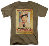 Andy Griffith - I Am the Law T-shirts