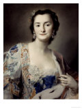 Anna Katharina Orzelska, Countess of Orzelska Giclee Print by Carriera Rosalba