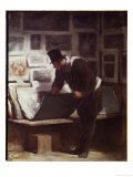 The Print Lover Poster by Honore Daumier