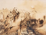 Vianden in Moonlight Giclee Print by Victor Hugo