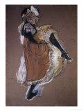Jane Avril bailando Pósters por Henri de Toulouse-Lautrec