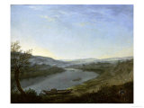 River Elbe Near Blasewitz Giclée-tryk af Anton Graff
