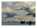 The Lagune of Venice Giclee Print by Richard Parkes Bonington