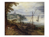 Landscape With Peter and Andrew Giclee Print by Jan Brueghel the Elder