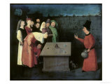 The Conjuror Print by Hieronymus Bosch