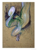 Loie Fuller at the Folies Bergere Giclee Print by Henri de Toulouse-Lautrec