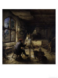 The Painter in His Studio Giclee Print by Adriaen Jansz. Van Ostade