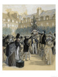 Victor Hugo Planting a Liberty Tree Giclée-Druck von Hermann Vogel