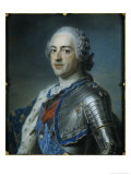 Louis XV of France Print by Maurice Quentin de La Tour