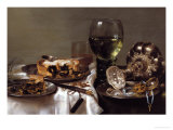 Breakfast Still-Life Giclee Print by Willem Claesz. Heda