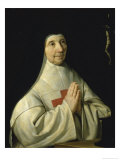 Abbess Jeanne-Catherine-Agnes Arnauld Posters by Philippe De Champaigne