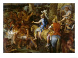 Alexander the Great and Poros Posters by Charles Le Brun