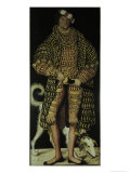 Henry the Pious, Duke of Saxony Lámina giclée por Lucas Cranach the Elder