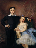 George and Jeanne Gicl&#233;e-Druck von Charles Voillemot