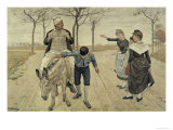 The Miller, His Son and the Donkey Impression giclée par Ferdinand Hodler