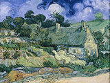 Staw-Roofed Houses Poster by Vincent van Gogh
