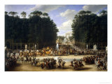 Napoleon and Marie Louise at the Tuileries Giclee Print by Etienne-barthelemy Garnier