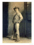 Gavroche Giclee Print by Gustave Brion