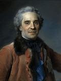 Marechal de Saxe, Moritz Count of Saxony Giclee Print by Maurice Quentin de La Tour