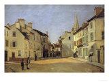 Rue de La Chaussee at Argenteuil Posters by Alfred Sisley