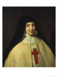 Abbess Jeanne-Catherine-Agnes Arnauld Print by Philippe De Champaigne