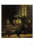 Still-Life With Two Peacocks and a Girl Posters by  Rembrandt van Rijn