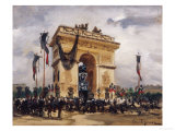 Victor Hugo's Funeral Giclee Print by Gabriel Thurner