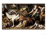 Still-Life With Dogs and Puppies Giclee Print by Frans Snyders