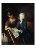 Portrait of Jean Philippe Baratier Giclee Print by Antoine Pesne