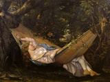 The Hammock Giclee Print by Gustave Courbet