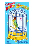 Singing Bird in Cage Prints