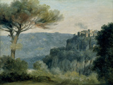 Village of Nemi Gicl&#233;e-Druck von Pierre Henri de Valenciennes