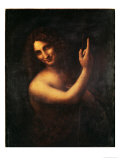 John the Baptist Print by  Leonardo da Vinci