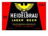 Old Heidelbrau Lager Beer Poster