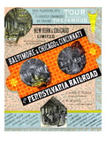 Tour the Famous Pennsylvania Railroad Poster