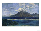 Landscape of Te Vaa Print by Paul Gauguin