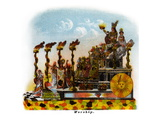 Worship - Mardi Gras Parade Float Design Posters