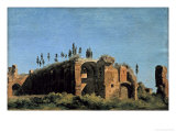 Ruins on the Palatine Giclee Print by Pierre Henri de Valenciennes