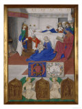 Birth of St.John the Baptist Giclee Print by Jean Fouquet