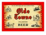Olde Towne Pilsner Beer Poster
