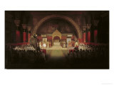 The Chapter Assembly of the Templars Giclee Print by Francois-Marius Granet