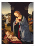 The Holy Family Giclee Print by Lorenzo di Credi