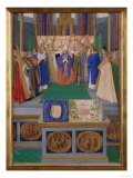 Consecration of St.Nicolas Poster by Jean Fouquet